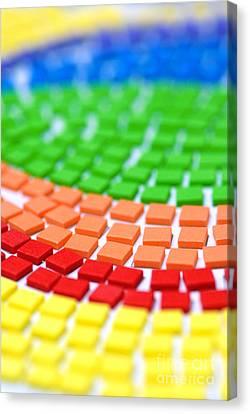 Rainbow Pattern Canvas Print by Amy Cicconi