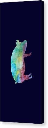 Rainbow Pig Canvas Print