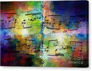 Canvas Print featuring the digital art Rainbow Quad by Lon Chaffin