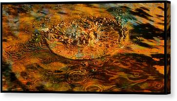 Rainbow Rain Canvas Print by Dan Sproul