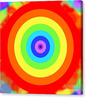 Rainbow Reality Canvas Print by Mariola Bitner