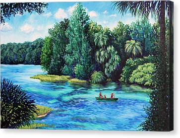 Rainbow River At Rainbow Springs Florida Canvas Print by Penny Birch-Williams