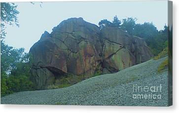 Canvas Print featuring the photograph Rainbow Rock by John Williams