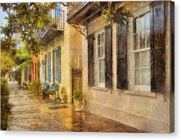 Rainbow Row Charleston Canvas Print