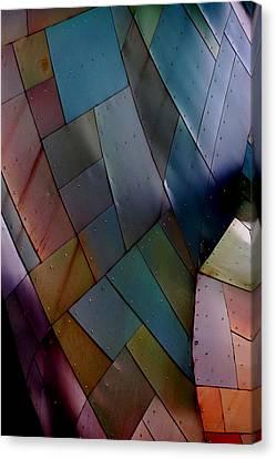 Rainbow Shingles Canvas Print