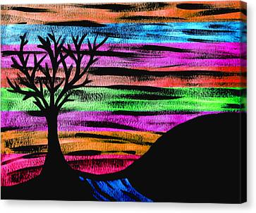 Rainbow Skies Canvas Print by Josephine Ring