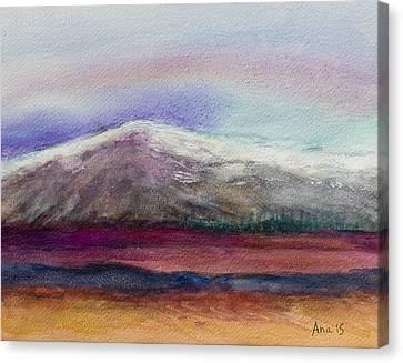 Rainbow Sky In Alaska Canvas Print by Anais DelaVega