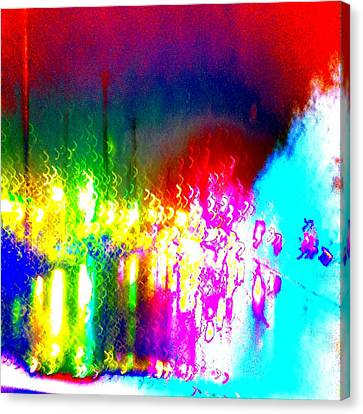 Rainbow Splash Abstract Canvas Print