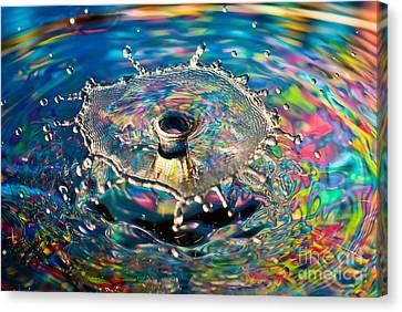 Rainbow Splash Canvas Print by Anthony Sacco