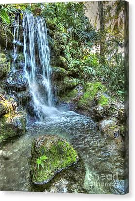 Dunnellon Canvas Print - Rainbow Springs Waterfall by Myrna Bradshaw