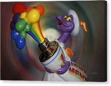 Figment Canvas Print - Rainbow Squirt by Thomas Woolworth