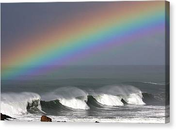 Rainbow Storm Canvas Print by Ru Tover