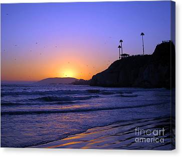 Rainbow Sunset Canvas Print by Debra Thompson