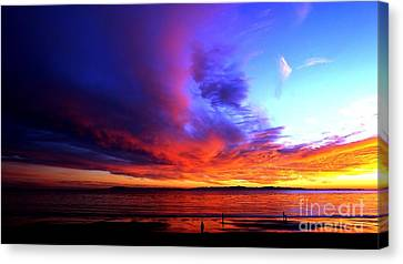 Canvas Print featuring the photograph Rainbow Sunset by Sue Halstenberg