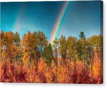 Rainbow Surprise Canvas Print by Omaste Witkowski