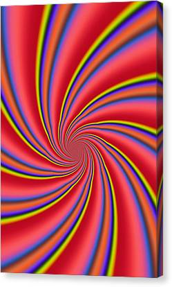 Rainbow Swirls Canvas Print by Paul Sale Vern Hoffman
