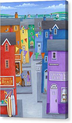 Rainbow Town Canvas Print