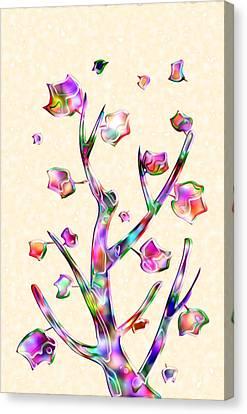Rainbow Tree Canvas Print by Anastasiya Malakhova
