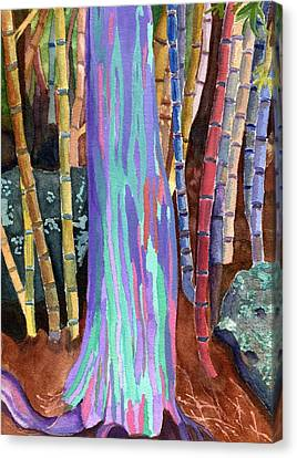 Rainbow Tree Canvas Print by Lynne Reichhart