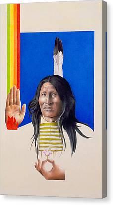 Rainbow Warrior Canvas Print by David Holmes