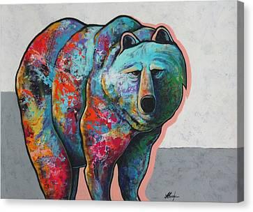 Rainbow Warrior - Grizzly Bear Canvas Print by Joe  Triano