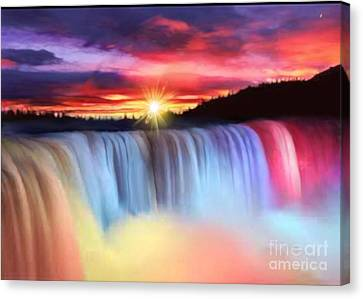 Rainbow Waterfall Canvas Print