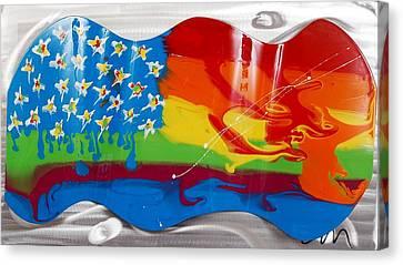 Rainbow Wave - Edition 3 Canvas Print by Mac Worthington