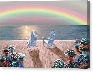 Rainbow Wishes Canvas Print