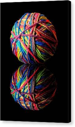 Loom Canvas Print - Rainbow Yarn And Reflection by Jim Hughes