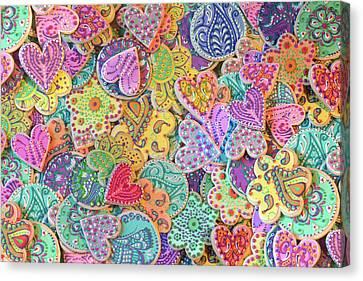 Rainbow_henna_cookies Canvas Print by Alixandra Mullins