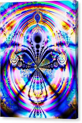 Rainbow Canvas Print - Rainbows And Dragonflies by Anastasiya Malakhova