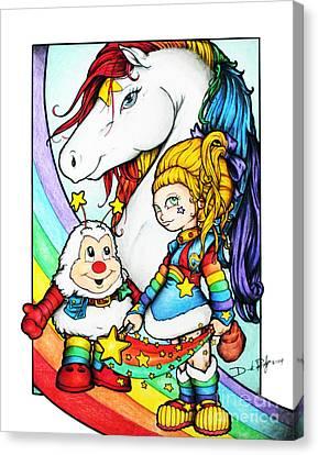 Rainbows Briter Canvas Print