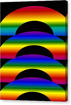 Canvas Print featuring the digital art Rainbows by Gayle Price Thomas