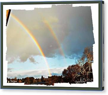 Canvas Print featuring the photograph Rainbows by Leanne Seymour
