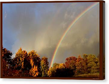 Rainbows Of Autumn Canvas Print by Debra     Vatalaro