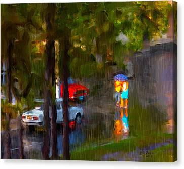 Canvas Print featuring the photograph Raindrops At Cuba by Juan Carlos Ferro Duque