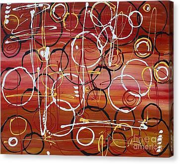 Raindrops Canvas Print by Jane Chesnut