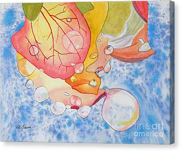 Raindrops On Roses Watercolor Art Prints Canvas Print