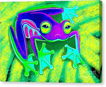 Rainforest Frog Canvas Print by Nick Gustafson