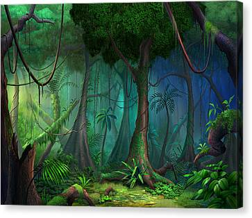 Foliage Canvas Print - Rainforest by Philip Straub