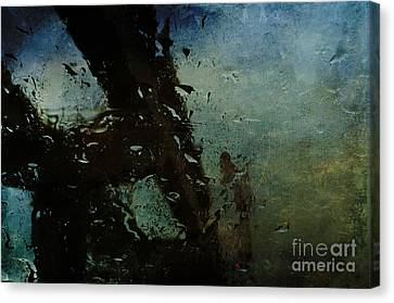 Rainful Abstract Canvas Print by Terry Rowe