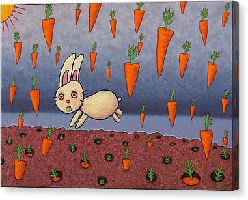 Raining Carrots Canvas Print by James W Johnson