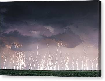 Raining Electricity Canvas Print