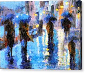 Raining In Italy Abstract Realism Canvas Print by Georgiana Romanovna