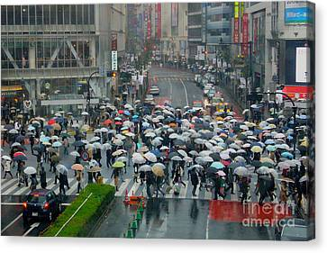Tolan Canvas Print - Raining In Tokyo 2 by To-Tam Gerwe