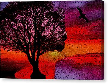 Canvas Print featuring the mixed media Acid Rain by Lisa McKinney
