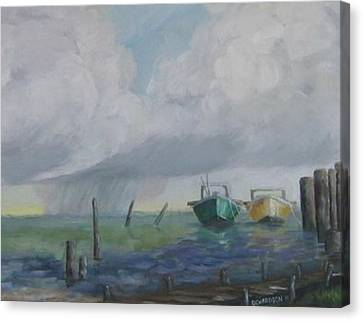 Raining On St. George Canvas Print by Susan Richardson