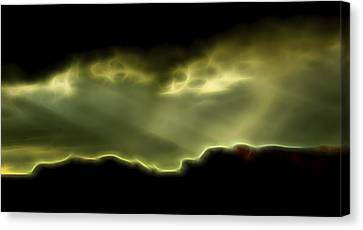 Canvas Print featuring the digital art Rainlight 1 by William Horden