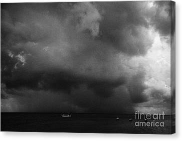Rainstorm Thunderstorm Storm Clouds Approaching Key West Florida Usa Canvas Print by Joe Fox