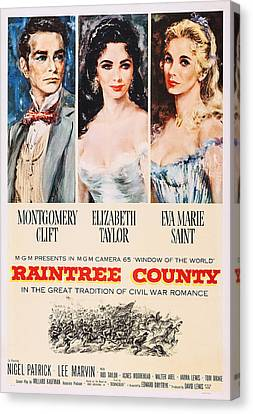 Raintree County, Us Poster, From Left Canvas Print by Everett